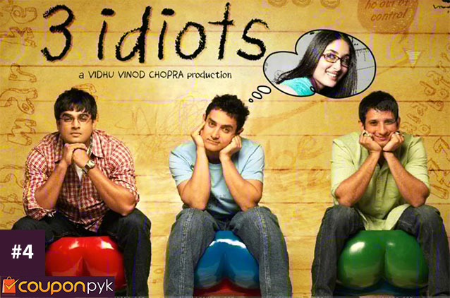 3 Idiots - No. 4 Highest Grossing Bollywood Movie of All Time