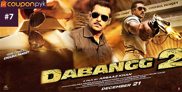 Dabangg 2 - No. 7 Highest Grossing Bollywood Movie of All Time